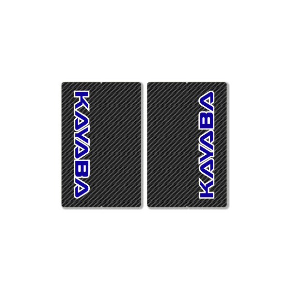 KAYABA CARBON FORK DECALS – FACTORY REPLICA – BLUE
