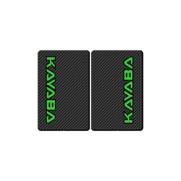 KAYABA CARBON FORK DECALS – FACTORY REPLICA – GREEN