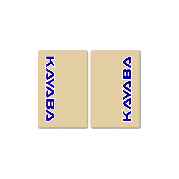 KAYABA CLEAR FORK DECALS – FACTORY REPLICA – BLUE