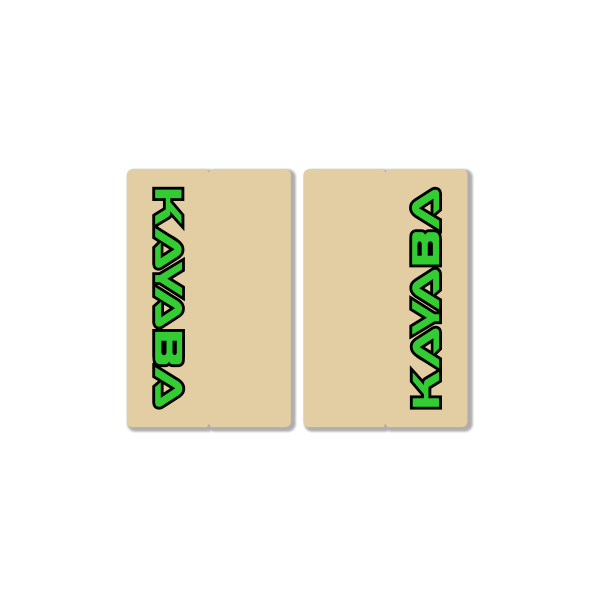 KAYABA CLEAR FORK DECALS – FACTORY REPLICA – GREEN