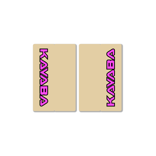 KAYABA CLEAR FORK DECALS – FACTORY REPLICA – PINK
