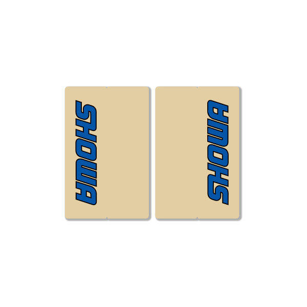 SHOWA CLEAR FORK DECALS – FACTORY REPLICA – BLUE