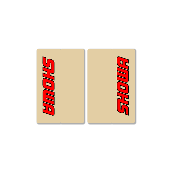 SHOWA CLEAR FORK DECALS – FACTORY REPLICA – RED