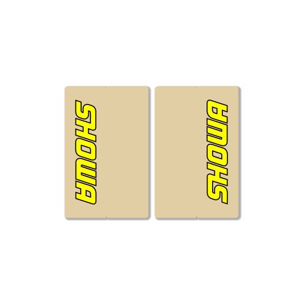 SHOWA CLEAR FORK DECALS – FACTORY REPLICA – YELLOW